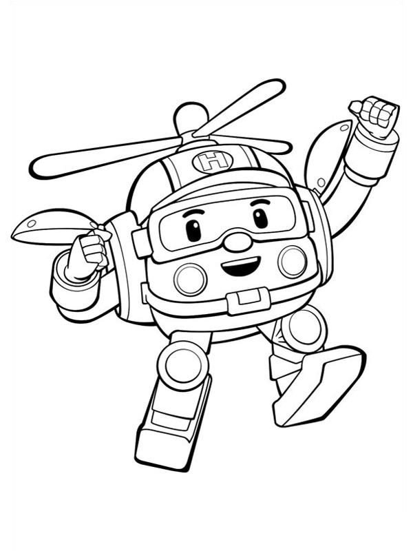 92 dessins de coloriage helicoptere sam le pompier imprimer - Coloriage robot car polly ...