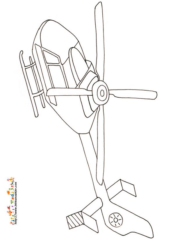 dessin d'hélicoptère de guerre a imprimer