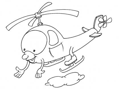 dessin à colorier helicoptere imprimer