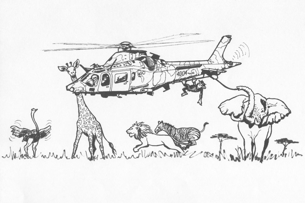 coloriage helicoptere militaire
