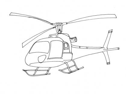 coloriage à dessiner helicoptere militaire a imprimer