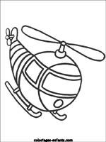 dessin à colorier avion et helicoptere