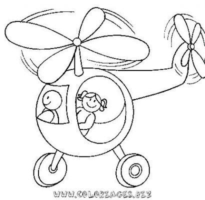 dessin à colorier d'hélicoptère de guerre a imprimer