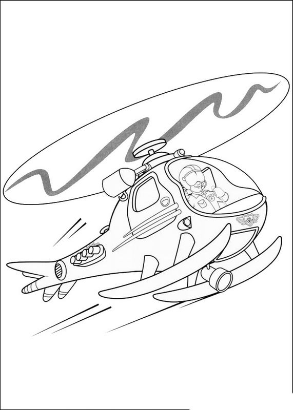 dessin helicoptere militaire a imprimer