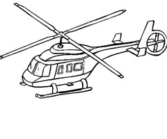 coloriage helicoptere securite civile
