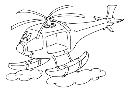 coloriage à dessiner cars helicoptere