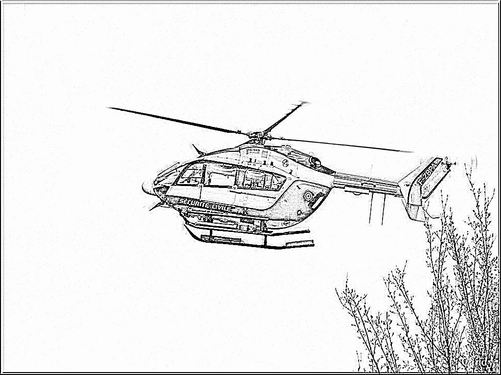 Coloriage Helicoptere En Ligne