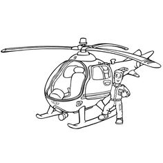 dessin hélicoptère de pompier