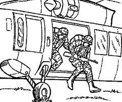 coloriage à dessiner imprimer helicoptere militaire
