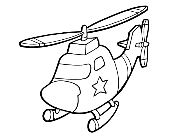 dessin helicoptere gratuit