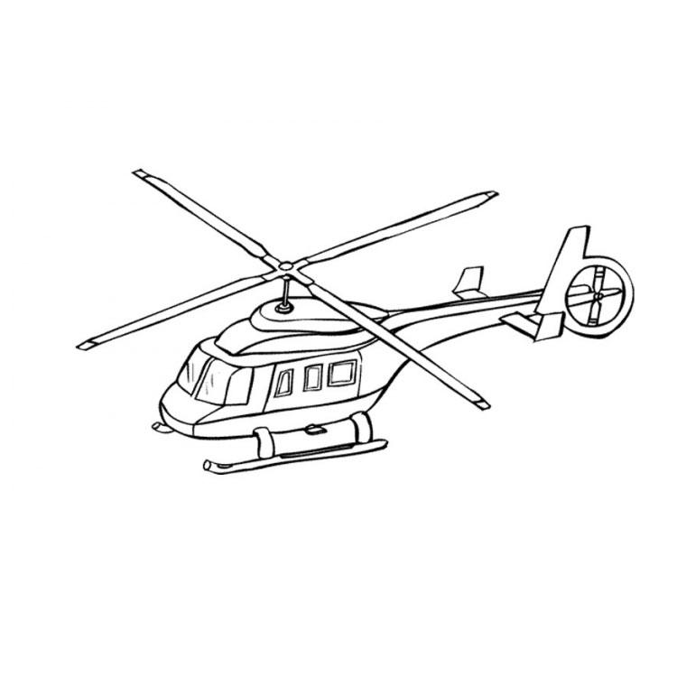 dessin hélicoptère de guerre