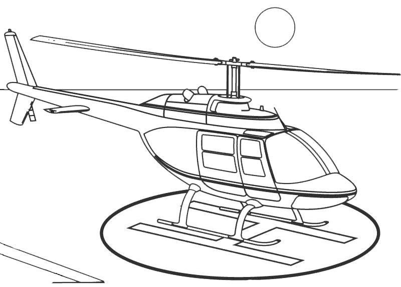 Coloriage à Dessiner Helicoptere Sam Le Pompier