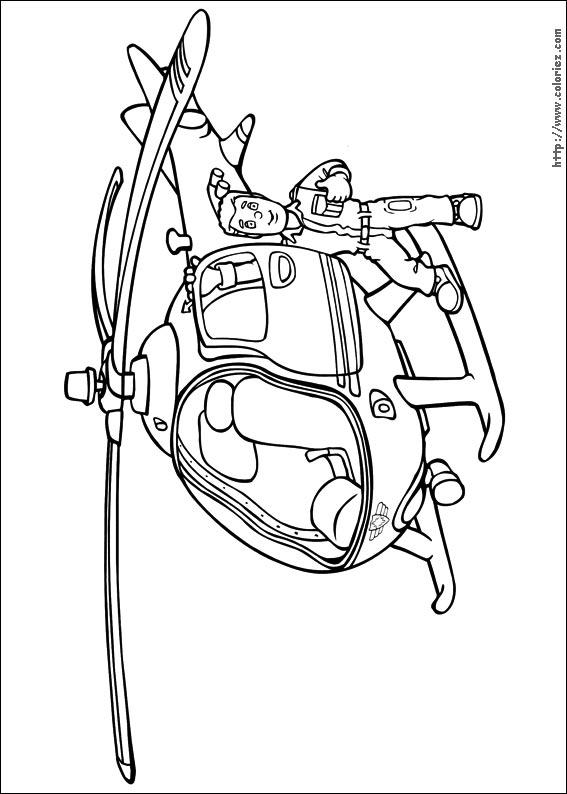 dessin hélicoptère de police