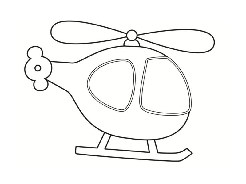 dessin à colorier helicoptere tigre