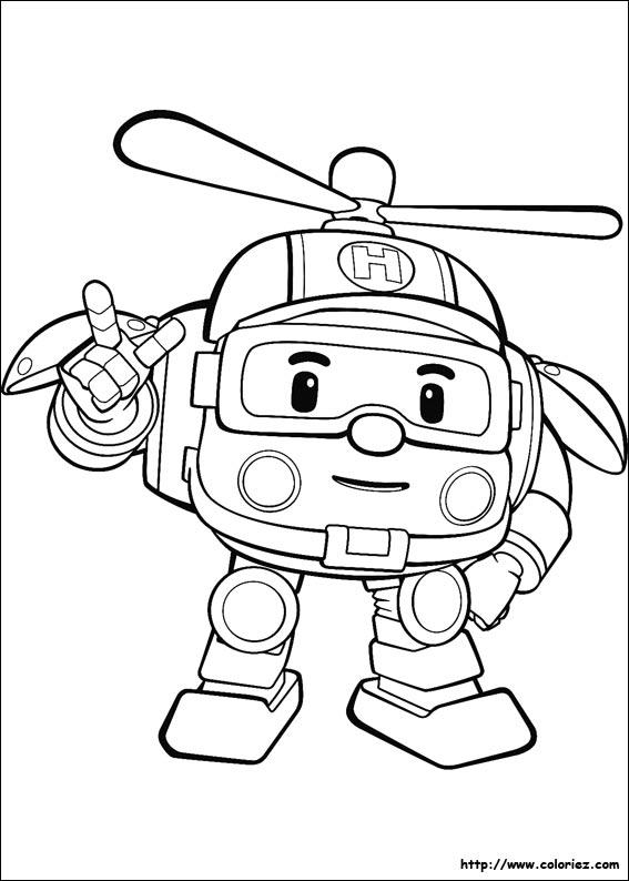 dessin à colorier à imprimer helicoptere