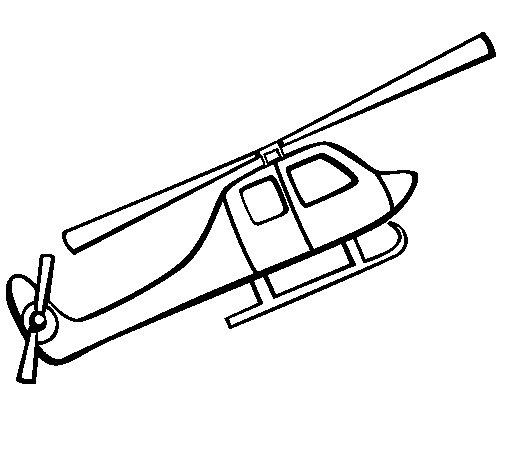 coloriage à dessiner helicoptere en ligne