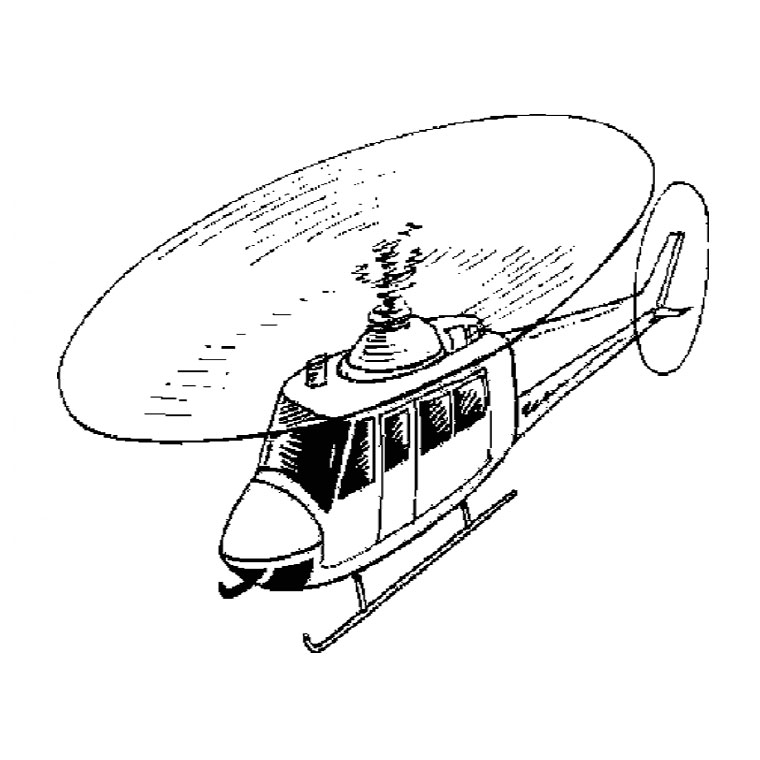coloriage imprimer helicoptere