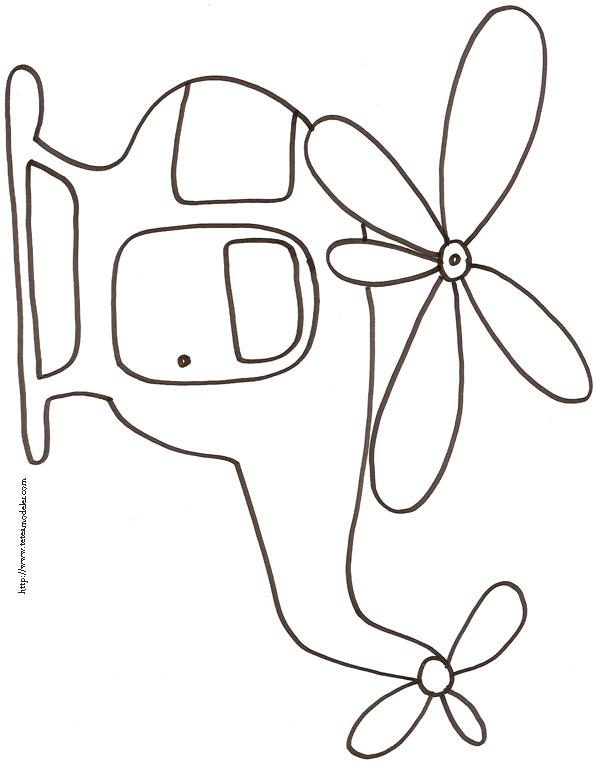 helicoptere colorier imprimer