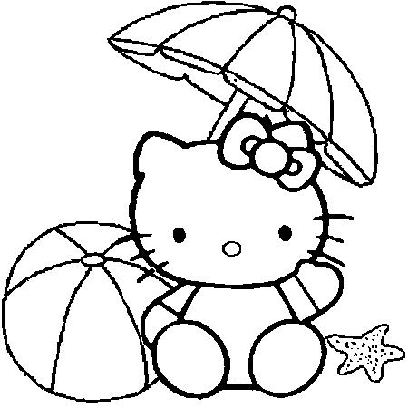 17 dessins de coloriage hello kitty a colorier imprimer - Coloriage hello kitty sirene ...