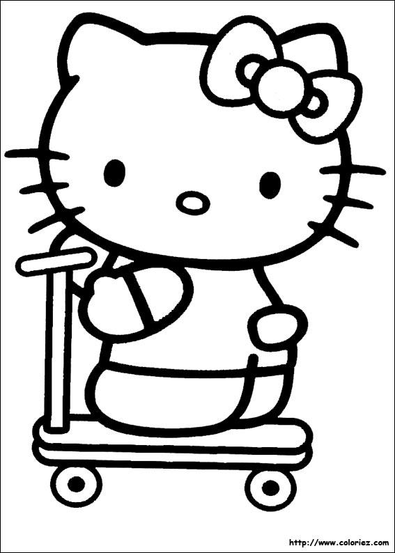 Coloriage Hello Kitty à Imprimer A4 à imprimer