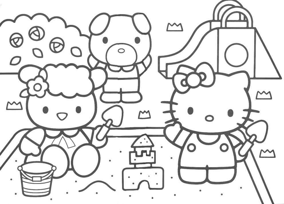 19 Dessins De Coloriage Hello Kitty à Imprimer A4 à Imprimer