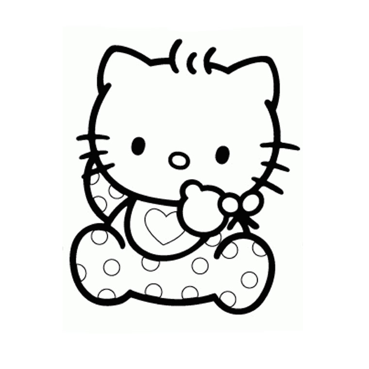 19 dessins de coloriage hello kitty coeur imprimer - Coloriage hello kitty a colorier ...