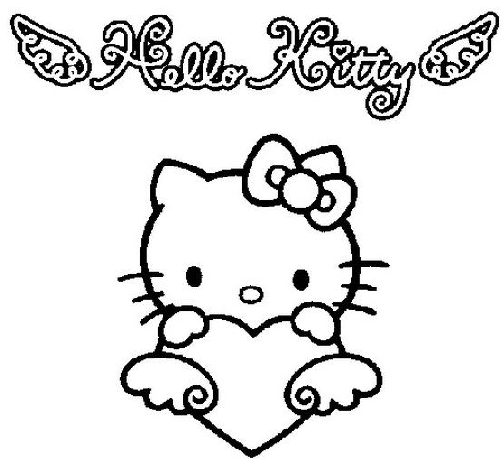 19 dessins de coloriage hello kitty coeur imprimer - Coloriage tete hello kitty a imprimer ...