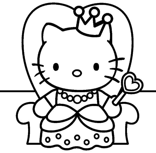 19 dessins de coloriage hello kitty coeur imprimer - Coloriage en ligne facile ...