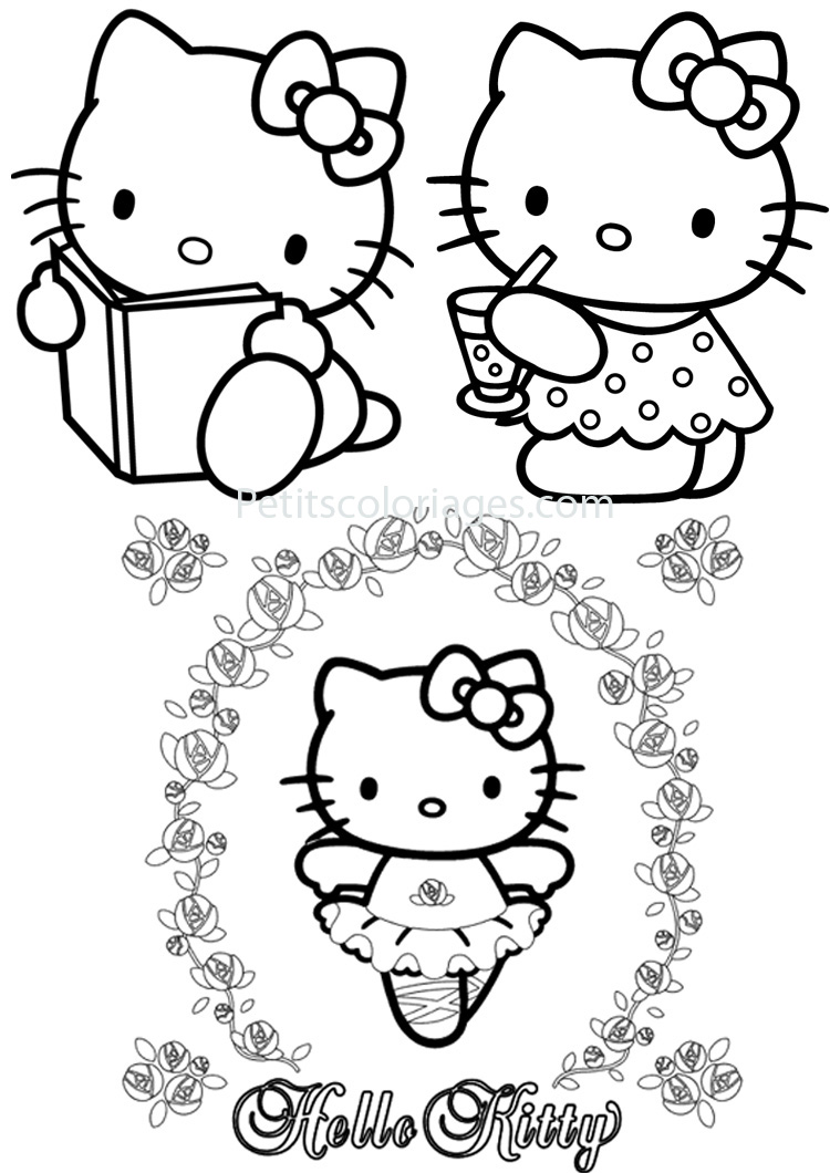 20 dessins de coloriage hello kitty danseuse imprimer - Coloriage hello kitty a colorier ...