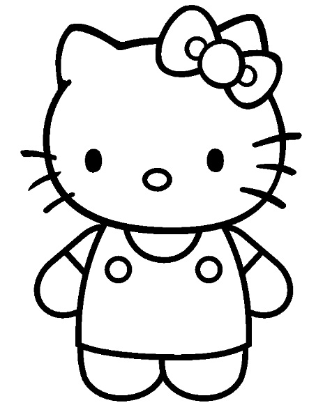 20 dessins de coloriage hello kitty danseuse imprimer - Hello kitty imprimer ...