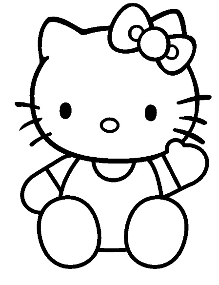 20 dessins de coloriage hello kitty en ligne imprimer - Coloriage tete hello kitty a imprimer ...