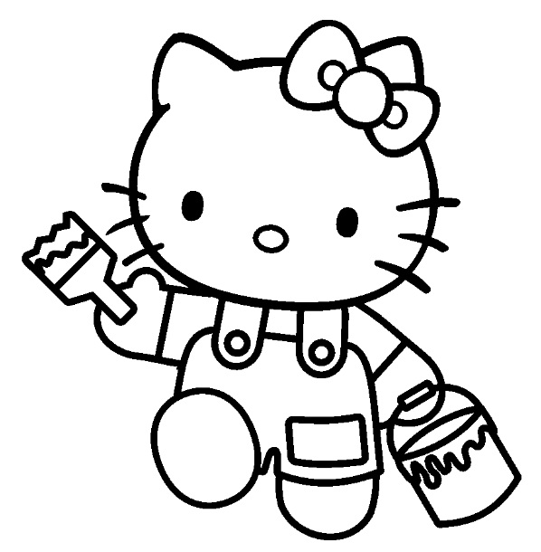 Superior Coloriage En Ligne Hello Kitty #7: Voir Le Dessin