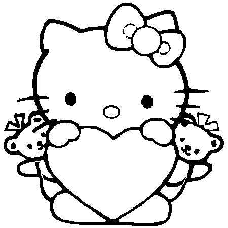 18 dessins de coloriage hello kitty hugo l 39 escargot imprimer - Hello kitty imprimer ...