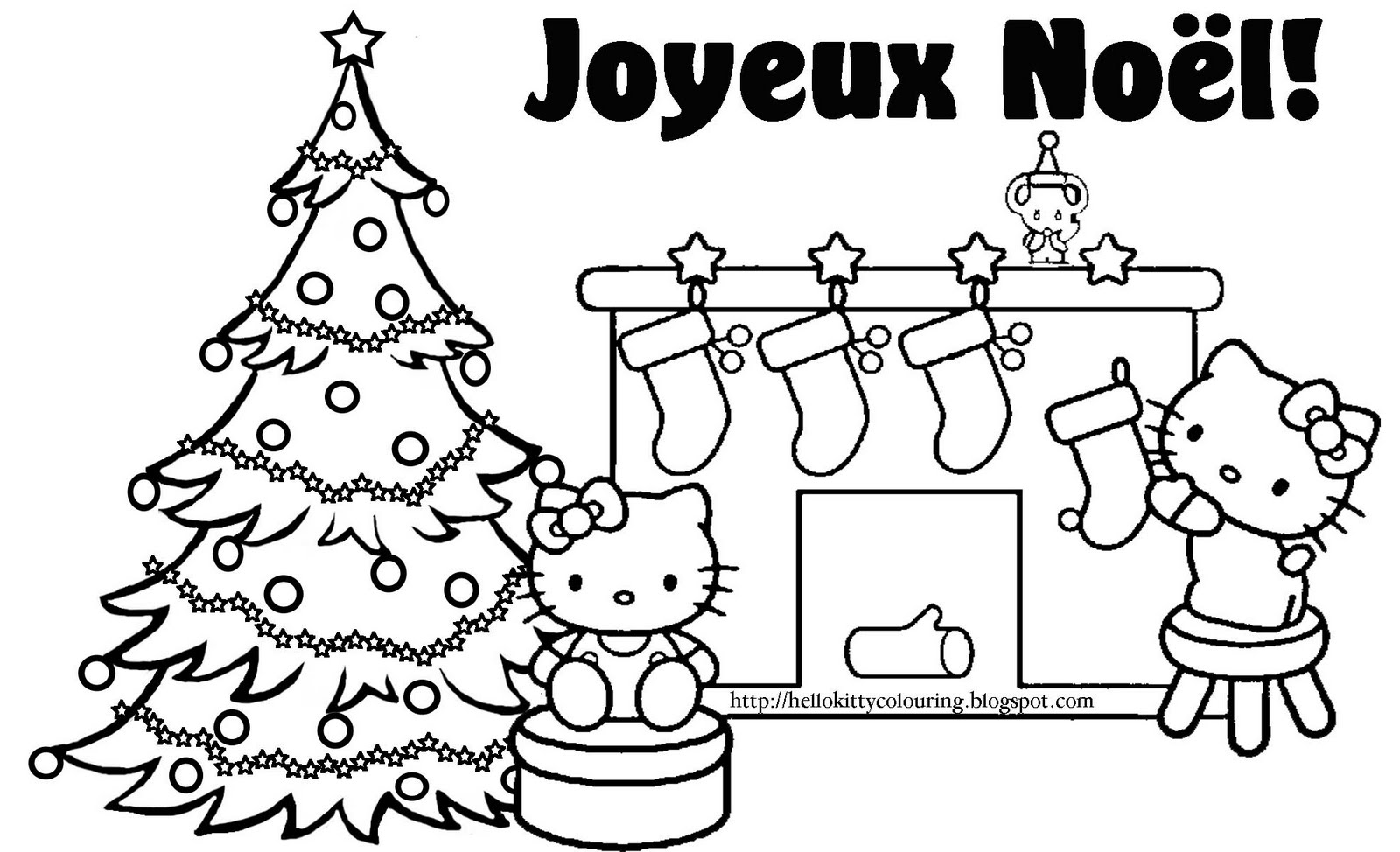 Amazing Coloriage Hello Kitty Noel #5: Voir Le Dessin