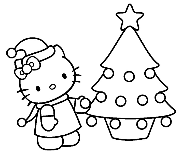 19 dessins de coloriage hello kitty noel imprimer - Imprimer coloriage hello kitty ...