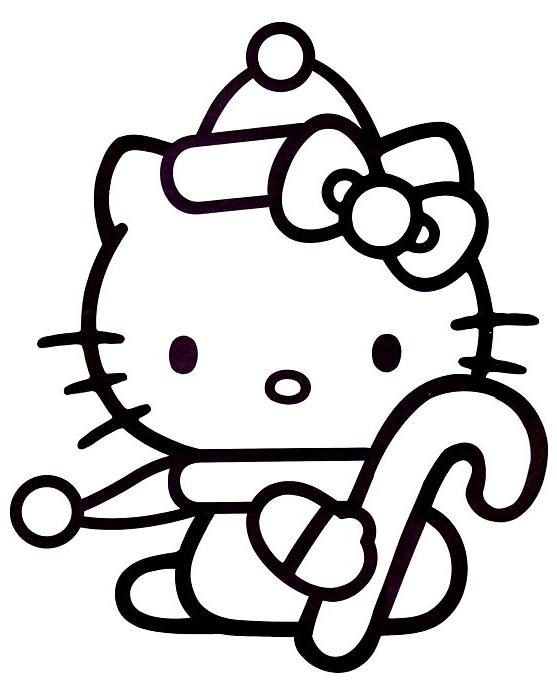 Image hello kitty no l - Coloriage hello kitty a colorier ...