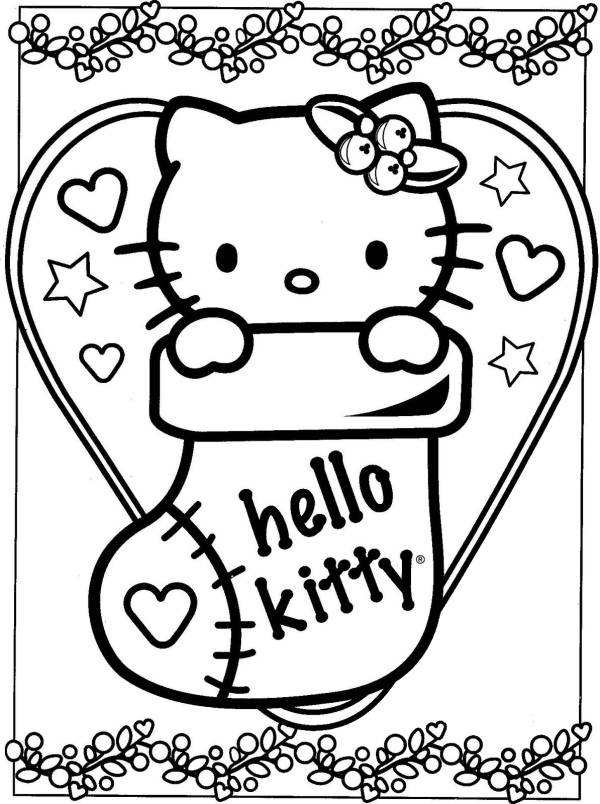 Ordinary Coloriage Hello Kitty Noel #14: Voir Le Dessin