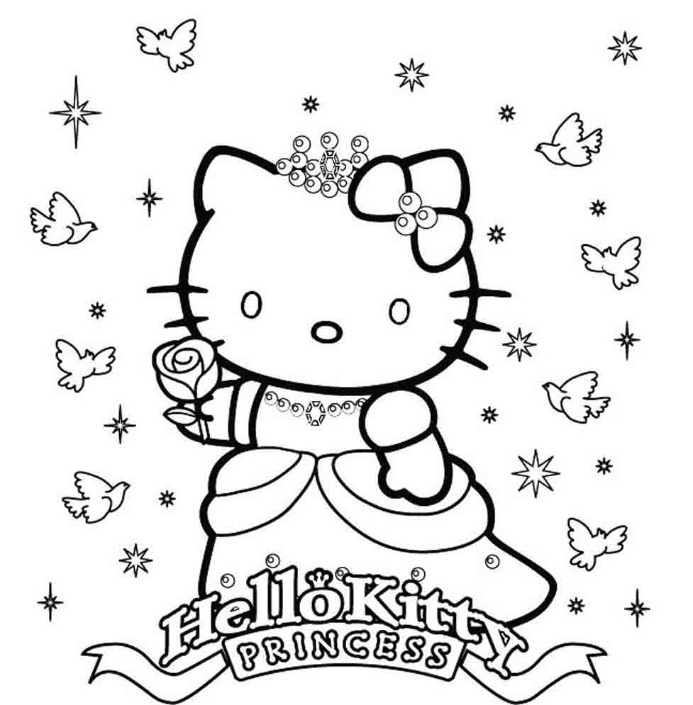 Beautiful Coloriage Hello Kitty Princesse #5: Voir Le Dessin