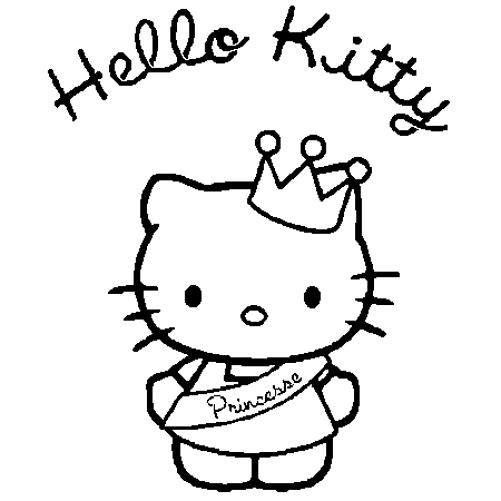 19 dessins de coloriage hello kitty princesse imprimer - Hello kitty jeux coloriage ...