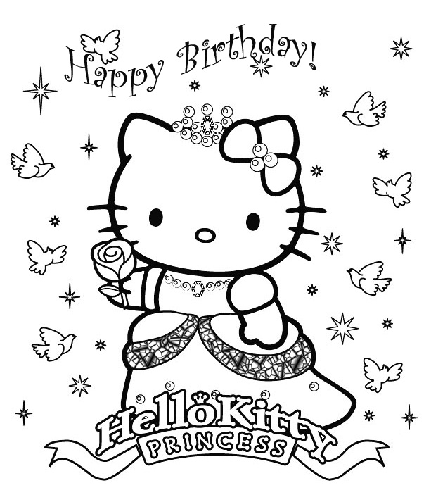 Good Coloriage Hello Kitty Princesse #3: Voir Le Dessin