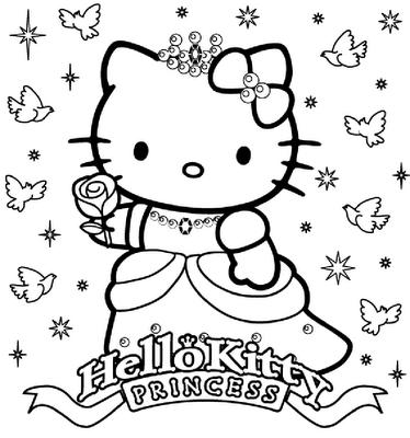 19 dessins de coloriage hello kitty princesse imprimer - Coloriage hello kitty princesse ...