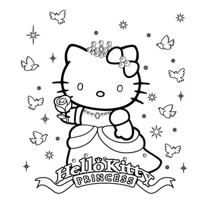 Good Coloriage Hello Kitty Gratuit #11: Voir Le Dessin