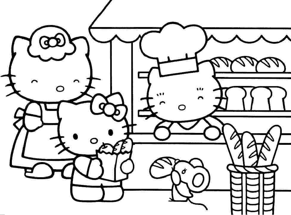 coloriage gratuit hello kitty noel imprimer