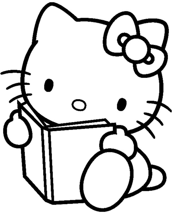 coloriage hello kitty maitresse