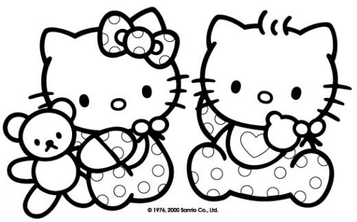 Coloriage Gratuit Hello Kitty Sirene