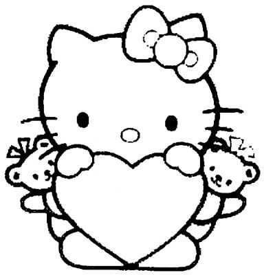 coloriage hello kitty gothique