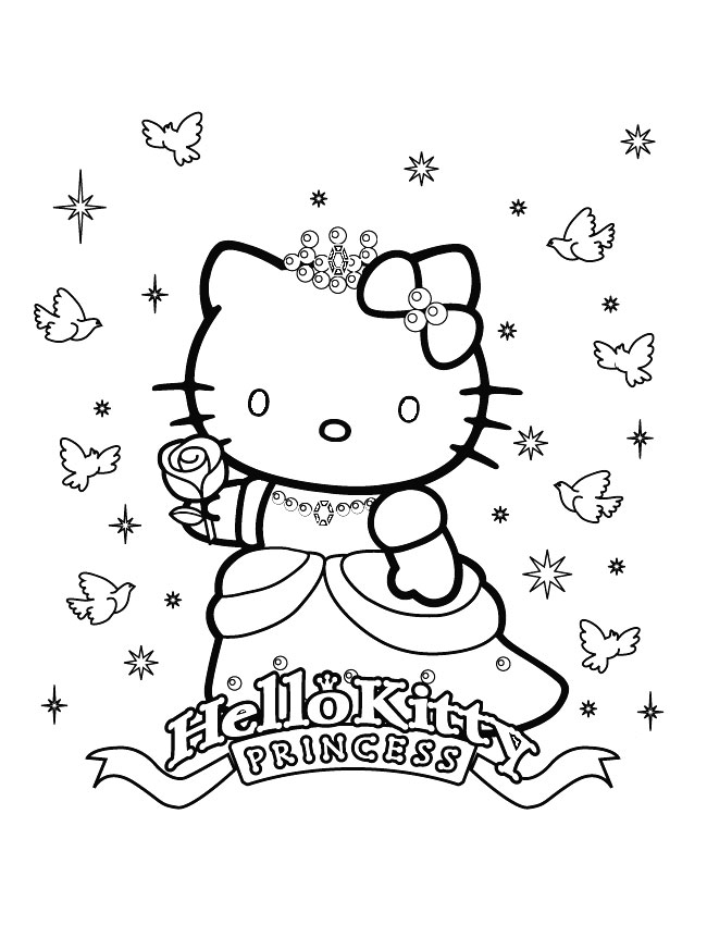 coloriage hello kitty coeur à imprimer