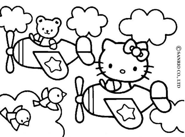 imprimer hello kitty coloriage