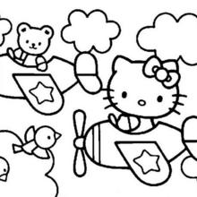 jeux coloriage hello kitty imprimer