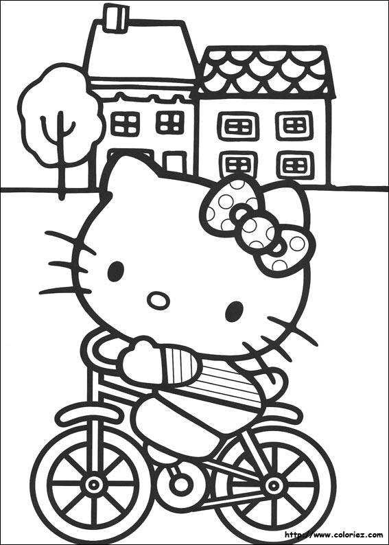 masque à colorier hello kitty